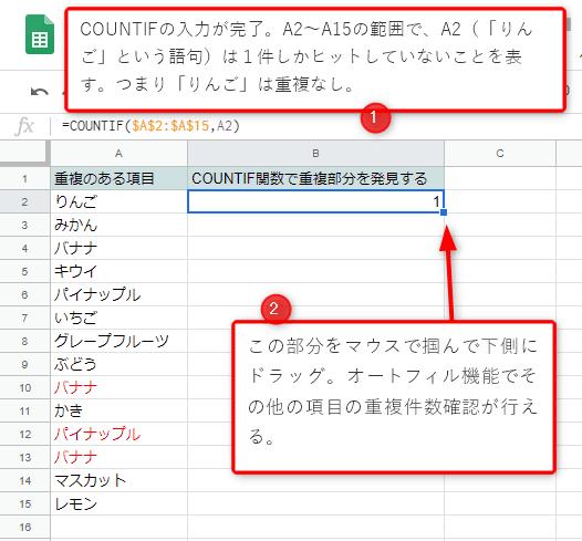 COUNTIFの使い方2